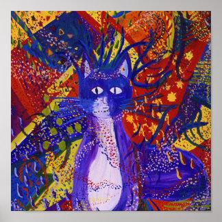 Llegando - fiesta salvaje en rojo, amarillo y azul póster