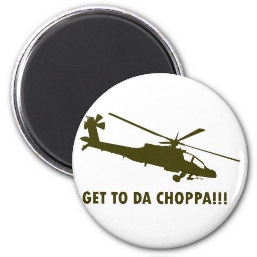 ¡Llegue a DA Choppa!!! Imán Redondo 5 Cm