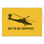 ¡Llegue a DA Choppa!!! Tarjeton