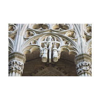 Lleida cathedral detail canvas print