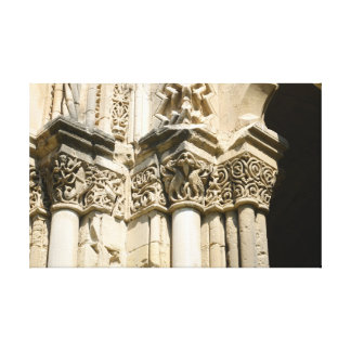 Lleida cathedral detail stretched canvas prints