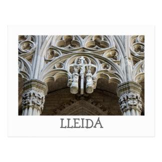 Lleida cathedral (detail) postcard