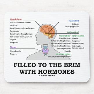 Llenado al borde de las hormonas (anatomía) alfombrilla de raton