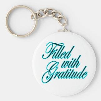 Llenado de llavero de la gratitud