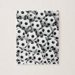 Llenado de los balones de fútbol rompecabezas con fotos
