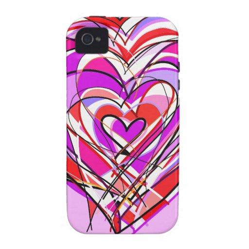 llenado del corazón y del amor iPhone 4 funda