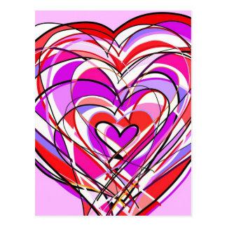 llenado del corazón y del amor tarjeta postal