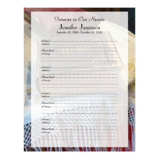 Llenador conmemorativo del libro Muestra-En la Membretes Personalizados