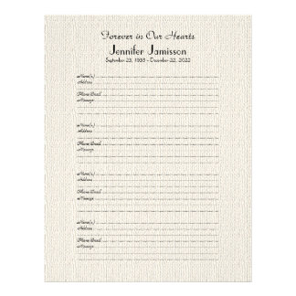 Llenador conmemorativo del libro Muestra-En Membretes Personalizados