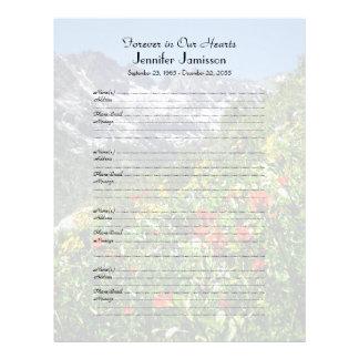 Llenador conmemorativo del libro Muestra-En Plantillas De Membrete