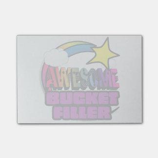 Llenador impresionante del cubo del arco iris de post-it® nota