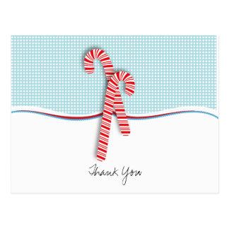 Llene adentro el navidad en blanco le agradecen po postal