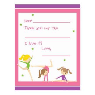 Llene adentro la gimnasia en blanco le agradecen postal