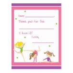 Llene adentro la gimnasia en blanco le agradecen tarjeta postal