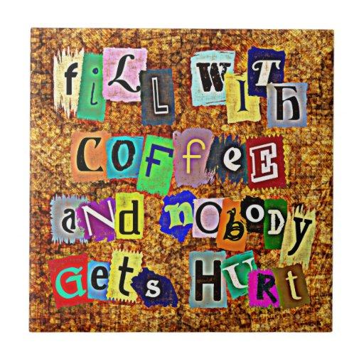 LLENE de la teja del CAFÉ…