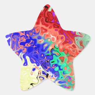 Llene el extracto pegatina en forma de estrella