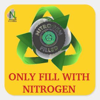 Llene solamente de nitrógeno pegatina cuadrada