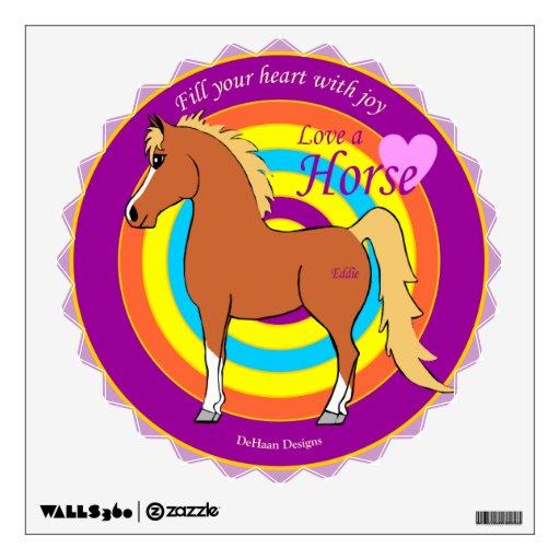 Llene su corazón de alegría y de caballos vinilo