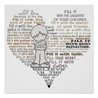 Llene su corazón póster