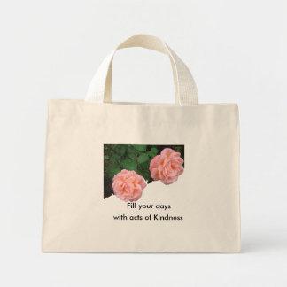 Llene sus días de actos del bolso de la amabilidad bolsa de tela pequeña