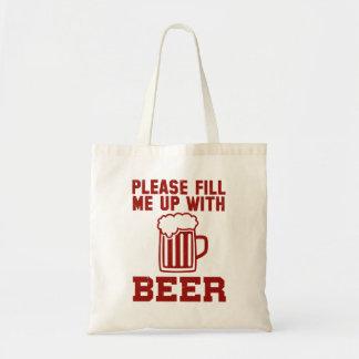 Lléneme por favor de la cerveza