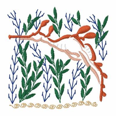 Lleno de yerbajos sudadera bordada con cremallera de mujer