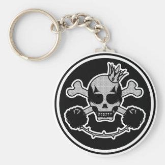 lleva clave skull head llavero redondo tipo pin