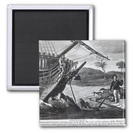 Llevada de Robinson Crusoe Imán Para Frigorífico
