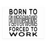 Llevado a Flutophone forzó para trabajar Postal