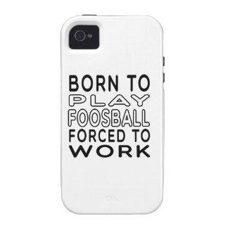 Llevado a Foosball forzó para trabajar Vibe iPhone 4 Carcasas