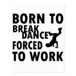 Llevado a la danza de rotura tarjetas postales