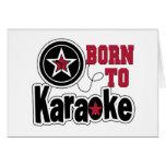 Llevado a la estrella del Karaoke Felicitación