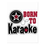 Llevado a la estrella del Karaoke Postal