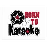 Llevado a la estrella del Karaoke Postales