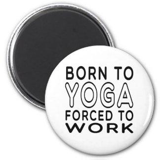 Llevado a la yoga forzada para trabajar imán redondo 5 cm