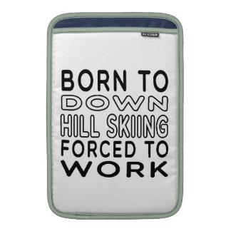 Llevado abajo a la colina el esquí forzado para tr fundas macbook air
