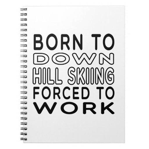 Llevado abajo a la colina el esquí forzado para tr libretas espirales