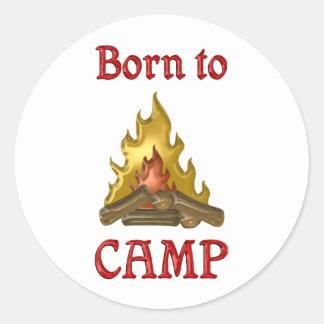 Llevado acampar pegatinas redondas