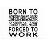 Llevado al arte marcial del karate americano postal