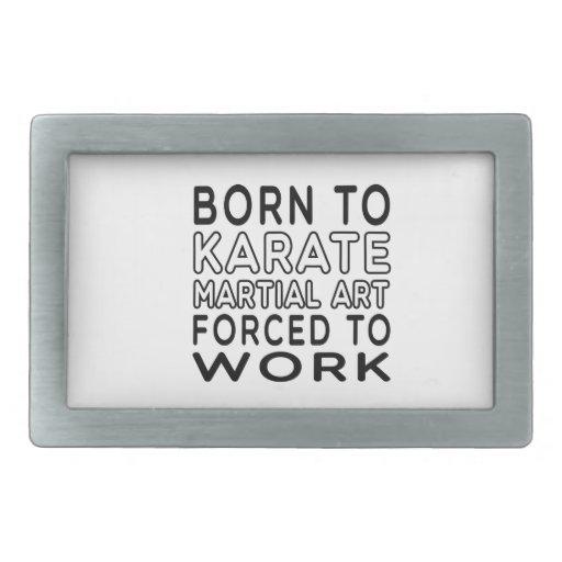 Llevado al arte marcial del karate forzado para tr hebillas cinturon rectangulares