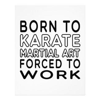 Llevado al arte marcial del karate forzado para tr plantilla de membrete