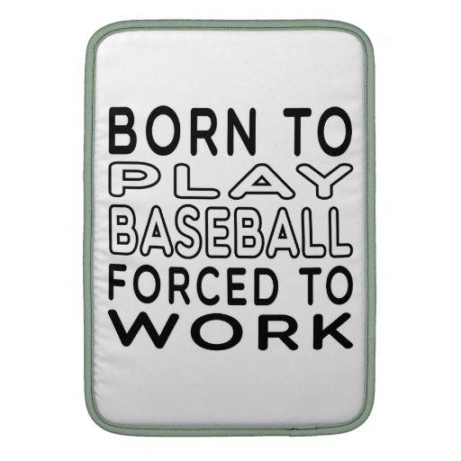 Llevado al béisbol forzado para trabajar funda para macbook air