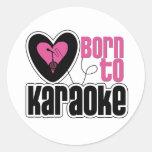 Llevado al corazón del Karaoke Pegatina Redonda