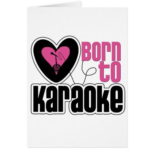 Llevado al corazón del Karaoke Tarjetón