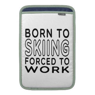Llevado al esquí forzado para trabajar fundas para macbook air