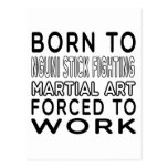 Llevado al palillo de Nguni que lucha el arte Postal