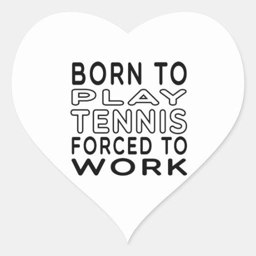 Llevado al tenis forzado para trabajar calcomanía de corazón