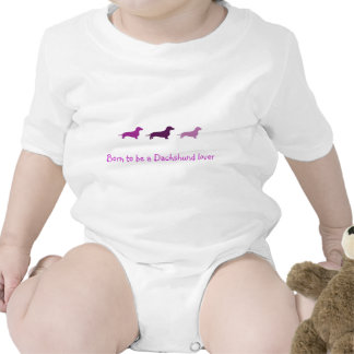Llevado amar Dachshunds-Púrpura Camiseta