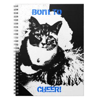 Llevado animar, gato de la animadora libros de apuntes con espiral