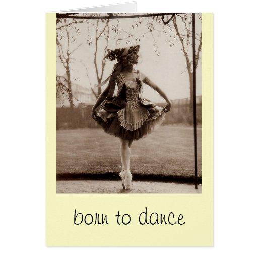 Llevado bailar tarjetas de nota